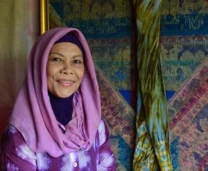 Fatimah Chik at home in Kuala Lumpur.